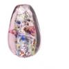 Glass Lamp Bead 14x9mm Amethyst/Rose